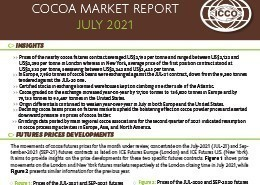 Monthly Review of the Market Cover July 2021