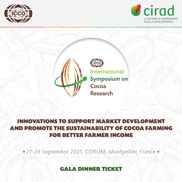 Gala dinner International Symposium on Cocoa Research